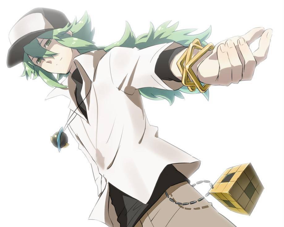 大色哥囹n�_放图,n·哈尔莫尼亚↓手上带着金色的方形…手镯?