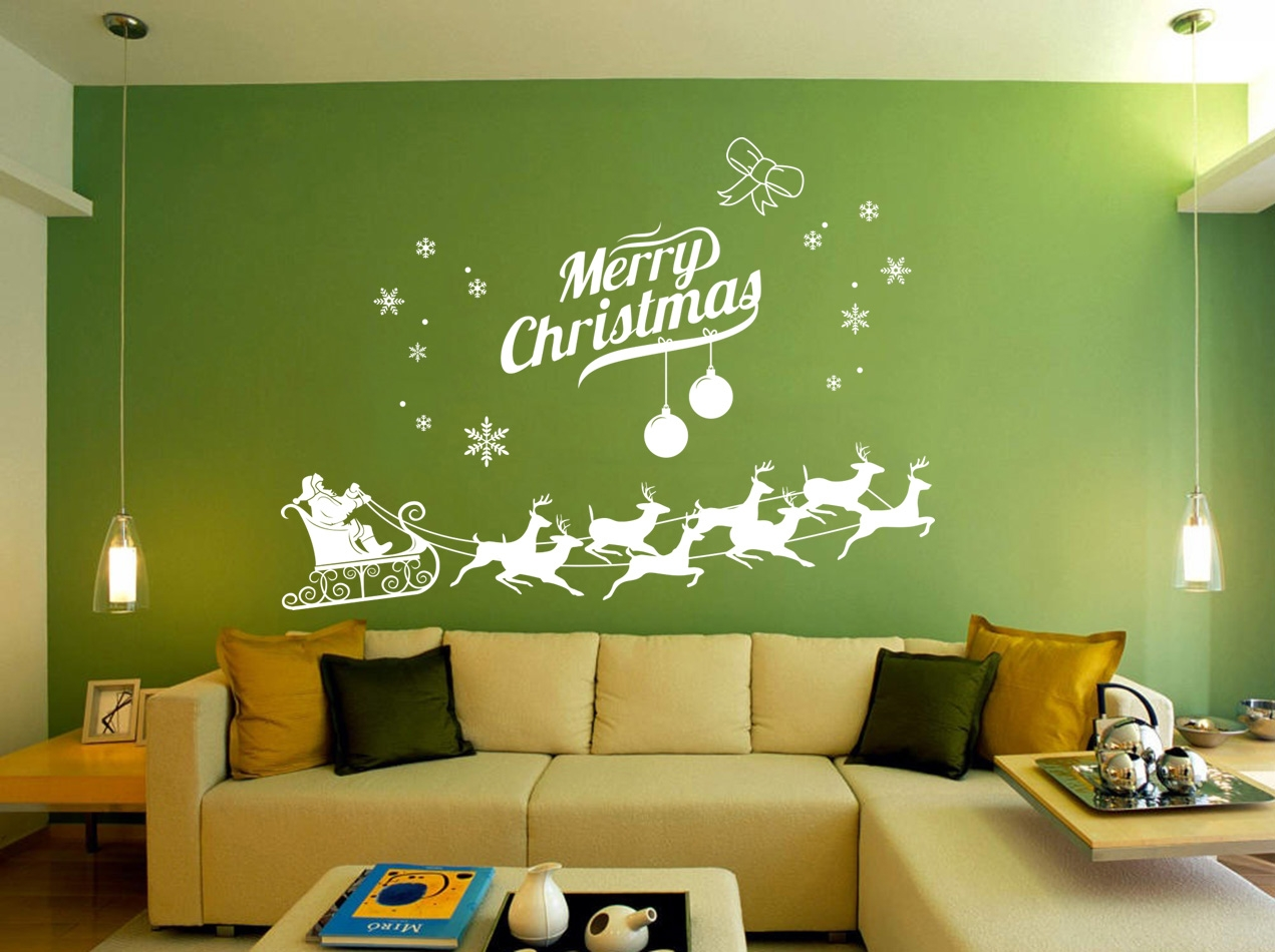 ... Wall Stickers New U0026 Next Day Post · Santa Christmas Window Painting
