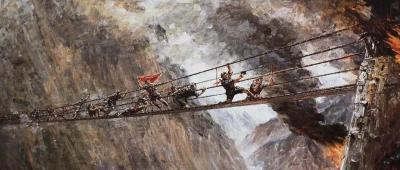 """红军飞夺泸定桥的""""22位勇士"""""""