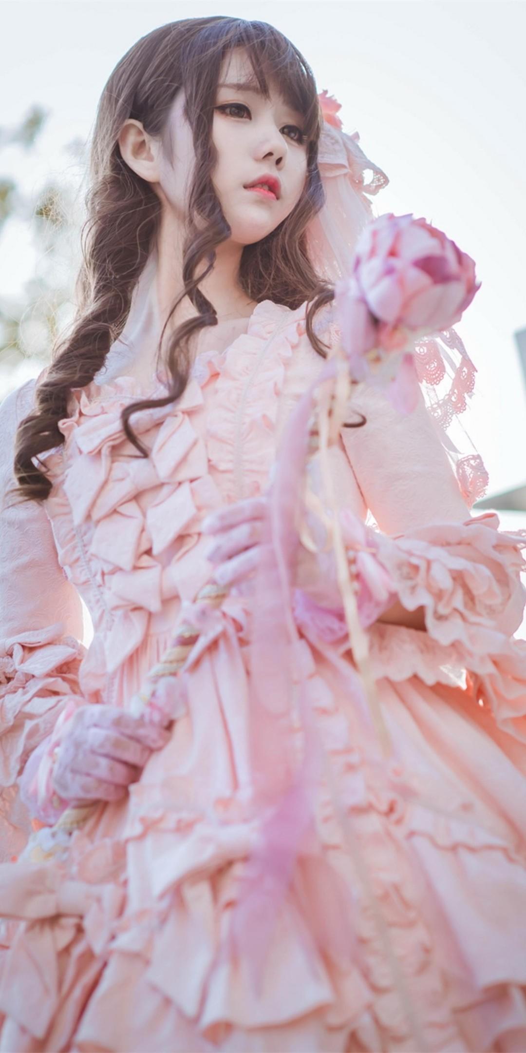 粉色系少女心手机壁纸插图47