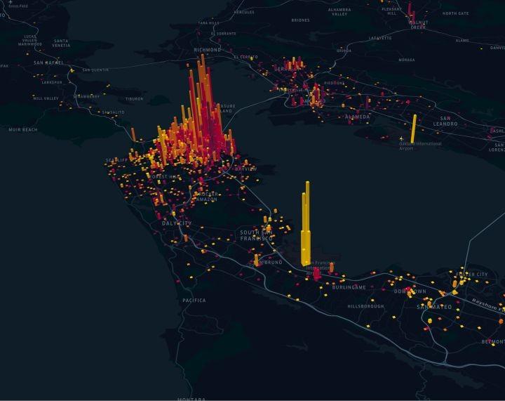 Kepler.gl功能强大的开源地理空间分析工具。