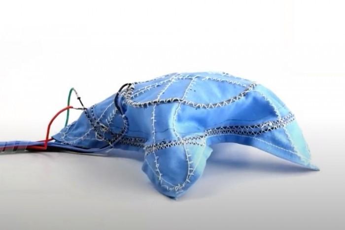 """科学家打造""""机器人织物"""":未来可自行搭建帐篷"""