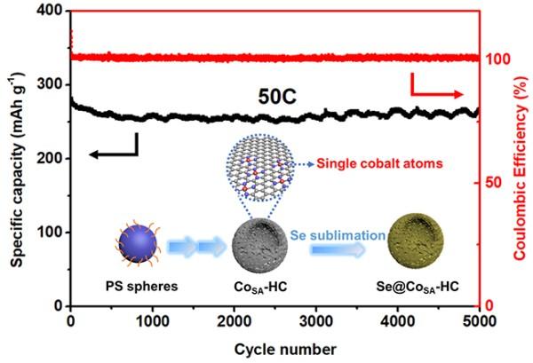 研究人员研制出中空碳球负载Co单原子催化剂用于Li-Se电池正极材料