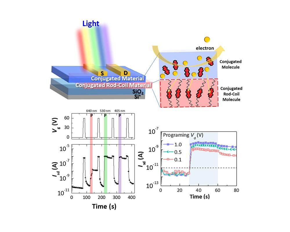 研究人员成功利用有机纳米材料开发出高性能光应答存储元件