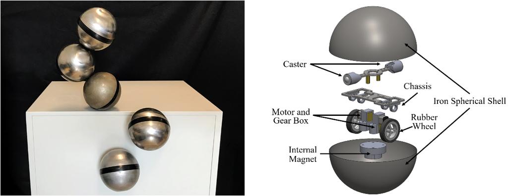 能任意连接、自由组合的模块化自重构机器人