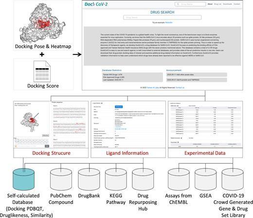 DockCoV2:针对新冠病毒的药物数据库