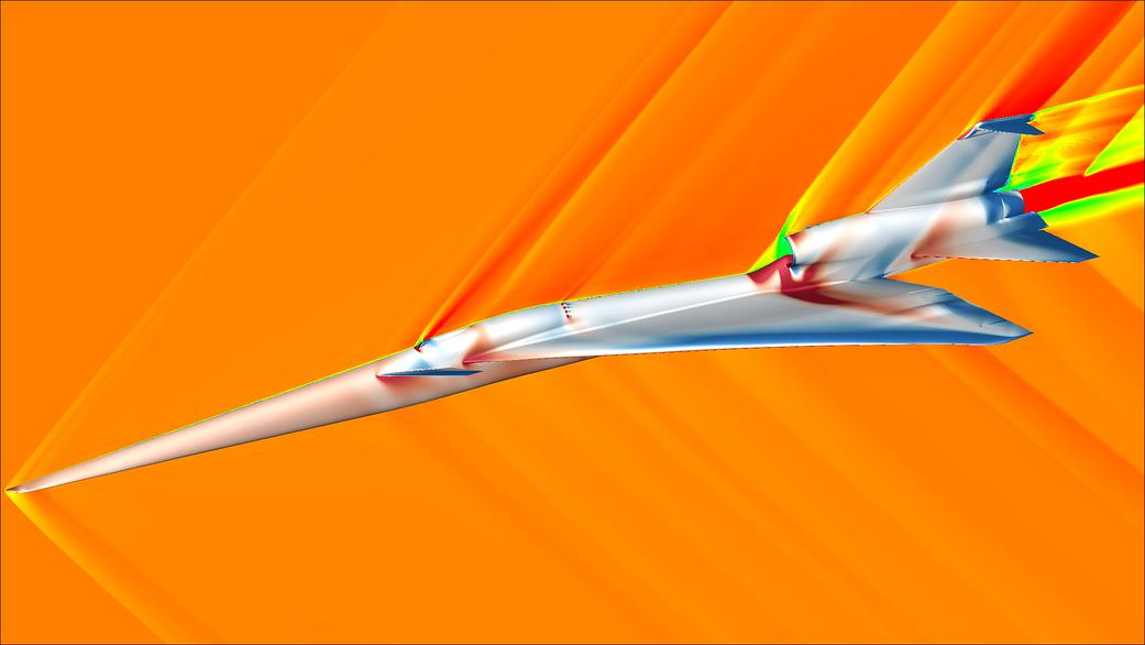 NASA采用可视化技术展示X-59静音超声速飞机的飞行仿真